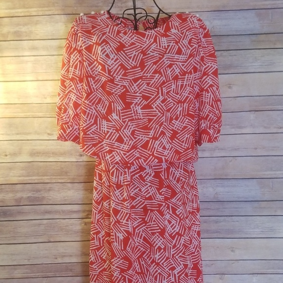 J.B. Too Dresses & Skirts - Vintage J.B. Too 12 red & white pattern dress